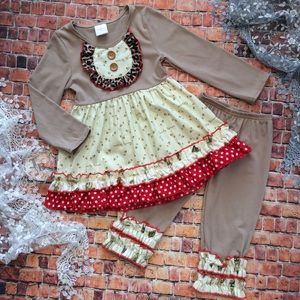 Boutique Toddler Girls Ruffle Outfit